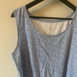 2/$18 Blue & White / Zigzag Pattern / Tank